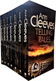 Ann Cleeves TV Vera Stanhope Series Collection 7 Books Set (Telling Tales, Harbour Street, Silent Voices, Hidden Depths, The Glass Room, Crow Trap)