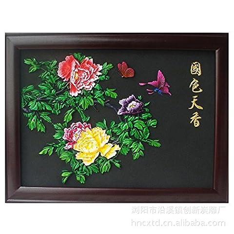 maison accessoires cadre ornements muraux charbon de bois artisanat relief processus cadre peintures décoratives créatif le style naturel
