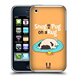 Head Case Designs Snug On A Rug Piper The Pug Hard Back Case for Apple iPhone 3G / 3GS