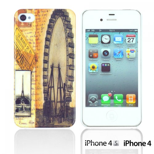 OBiDi - Designer Hard Case Cover / Housse pour Apple iPhone 4S / Apple iPhone 4 - Game Boy Wheel