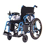 "PW-800AX (Lightweight Dual Function Foldable Power Wheelchair (Li-ion Battery), Drive with Electric Power or use as Manual Wheelchair. (Seat Width 20"" with Left Hand Controller)"