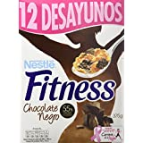 Nestlé Fitness Chocolate Negro Cereales para Desayuno - 375 g