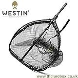 Westin W3 CR Landing Net XL Kescher für Hecht, Zander, Waller, Karpfen, Unterfangkescher, Bootskescher, Angelkescher fürs Ufer & Angelboot, Fischkescher mit gummiertem Netz
