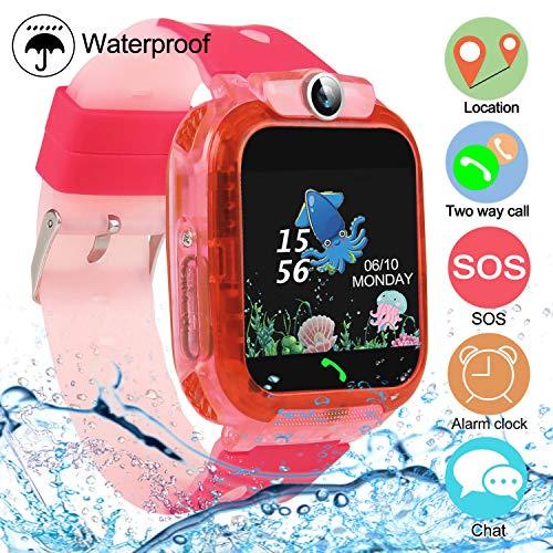 bhdlovely Smartwatch Niños con LBS/GPS Llamadas Voz Juego SOS Reloj Impermeable para...