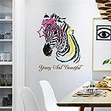 Zfkdsd Liebe Gekleideter Zebra-Wandaufkleber Junge Und Schöne Zebra-Avataras Aufkleber Schlafzimmer Restaurant Veranda Badezimmer Dekoration Abziehbilder