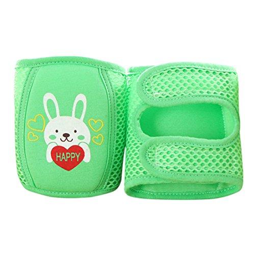 Jiyaru Baby Kinder Knieschoner Krabbelhilfe mit Farbwahl Grün