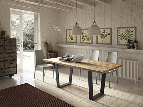Altacom Esstisch Trapani | Tisch | Küchentisch | Eiche massiv | 180 x 90 cm