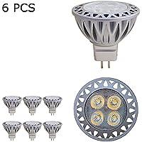 BAOMING MR16LED GU5.3Base 230V Lampadine Luci Spot, equivalente a lampadine alogene da 50W, bianco freddo 6000K, angolo del raggio 38°, 350lumen, a risparmio energetico ad alta luminosità Recessed Track Lighting, lampadine LED, Confezione da 6unità