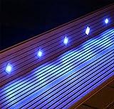 Set de 10focos led empotrables en el suelo en azul para jardín Terrazas niveles empotrable lámpara