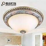 BRIGHTLLT Deckenleuchte LED europäischer Marmor Schlafzimmer Jane europäischer Garteneingang runder Balkon Gang, 500 * H190mm