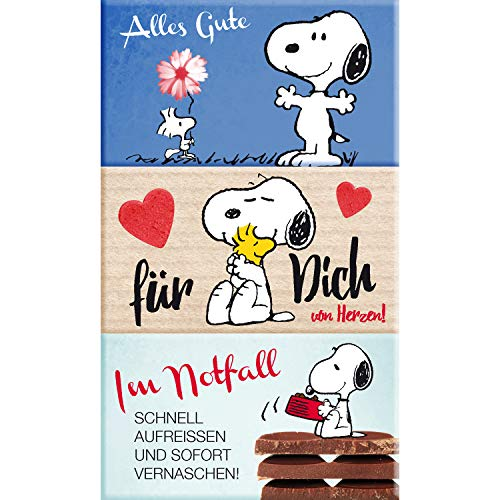 Preisvergleich Produktbild Snoopy Collection - Schokolade 3er Set,  3 x 40g