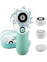 Gesichtsreinigungsbürste,Elektronische Gesichtsbürste mit 3 Peeling Bürstenaufsätze, Für alle Hauttypen geeignet, Sanfte Exfoliation und Tiefenreinigung,Wasserdicht IPX6