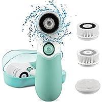 Cepillo Limpiador Facial, Yunshangauto Cepillo de Limpieza Impermeable con 3 Cabezas del Cepillo para limpiar el rostro de grasa, impurezas y puntos negros