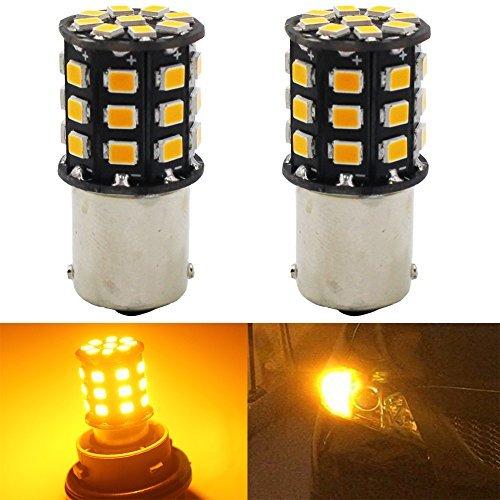 AMAZENAR Paquet de 2 1156 BA15S 1141 1073 7506 1003 Ampoules de Clignotants de Voiture - 12V-24V Ampoule/Ampoule de LED 2835 33SMD - Remplacement pour Ampoule LED de Clignotant de Queue