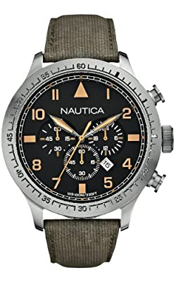 Nautica A17633G - Reloj de pulsera hombre, piel, color verde de Nautica