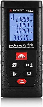 SNDWAY SW-T4S Digital Laser Rangefinder 40M Distance Meter Tape Measure Area/Volume Diastimeter