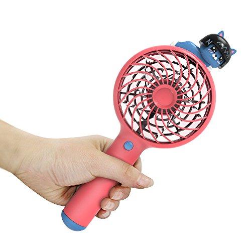 TJL Korea Kakao Freunde Cartoon Mini Ventilator, Mini USB-Ventilator tragbarer tragbarer Ventilator, Gules (Kakao Freunden)