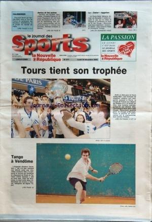 INFRA ROUGE [No 277] du 30/12/2002 - TENNIS / GUSTAVO CAVALLARO - CEDRIC SWISTAK - VOLLEY / TOURS TIENT SON TROPHEE -LE DAKAR EGYPTIEN - JEAN-JACQUES RATET ET CHRISTOPHE TINSEAU -JANICA ET LES AUTRES / KOSTELIC - CHRISTELLE PASCAL - LAURE PEQUEGNOT - RAHIVES par Collectif