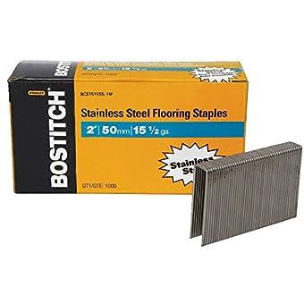 Bostitch Bcs1516Ss- 1 m de Long 15–1/2 g/1/2 en bois pour agrafes à couronne de sols-Lot de 1000