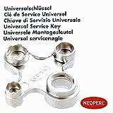 Neoperl Universal Serviceschlüssel Cache vernickelt M18/M22/M24/M28, 01458097