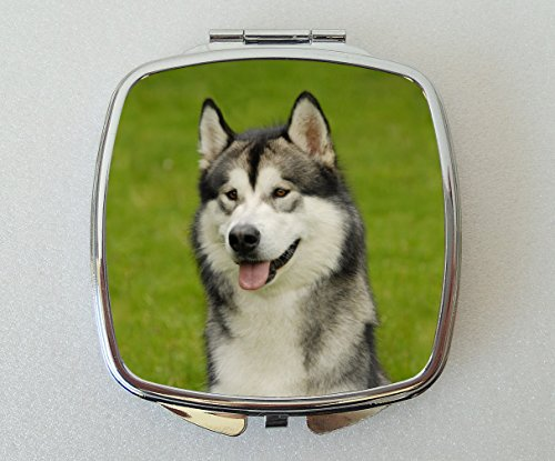 Alaskan Malamute Dog Compact Mirror Fun Novelty Gift by Starprint Sublimation