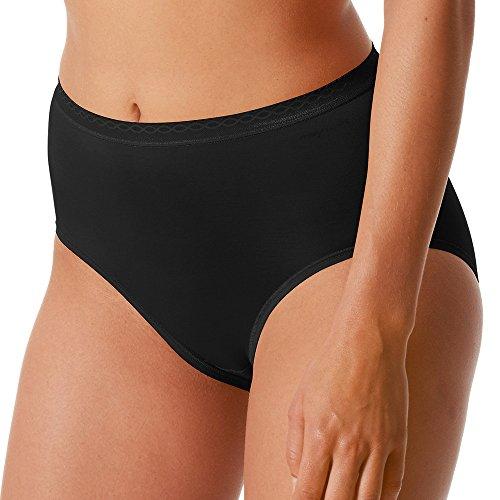 Mey 2er Pack Damen Taillenslip - Größe 44 - Schwarz - Slip ohne Seitennähte - Pflegeleichte Damen-Pants - Damen Unterhose - 89201 Lights