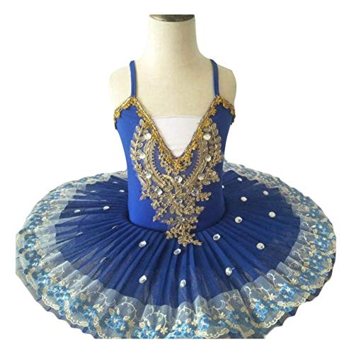 Dance Kostüm Tap - Panda Legends Mädchen Ballett Kleid Weiß Ballett Tutu Kleid Kinder Pailletten Dancewear Swan Dance Kostüme, Blau