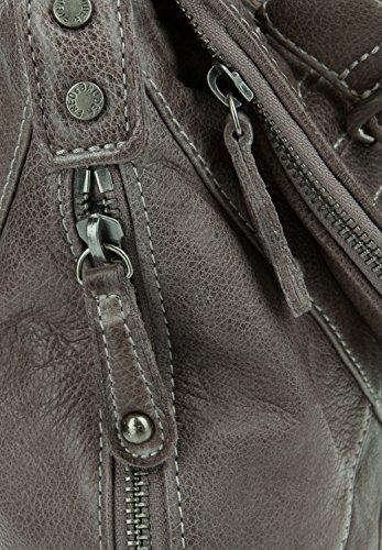 FredsBruder Glückskeks 2 Sac à main - porté épaule cuir 33 cm Grey (Gris)