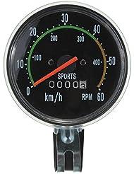 ConPush Bicicleta Velocímetro Tacómetro 80 mm Analógico 28 Pulgadas Estilo Clásico para Exercycle & Bike