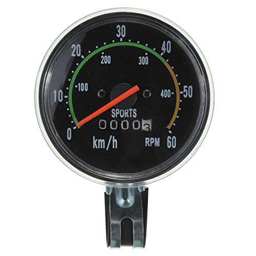 Preisvergleich Produktbild ConPush Fahrrad Tachometer im Retro Look mit 80mm analog 28 Zoll