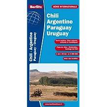 Chili, Argentine, Paraguay, Uruguay - Carte routière et touristique