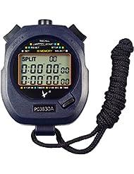 Leap, cronometro/cronografo, contagiri digitale, professionale, portatile, con LCD, da sport, 3 righe di visualizzazione, con 30memorie