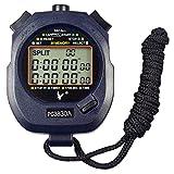 Leap cronometro/cronografo, contagiri digitale, professionale, portatile, con LCD, da sport, 3 righe di visualizzazione, con 30memorie