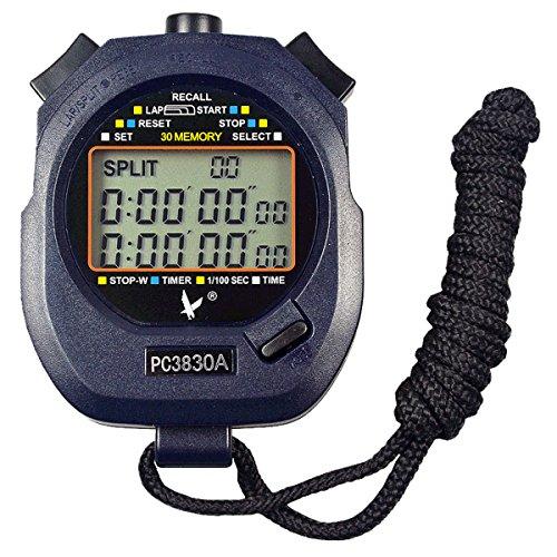 Leap Digital Professional Handheld LCD chronographe Sports Chronomètre, Three-row 30souvenirs Lap Counter cours Minuteur.