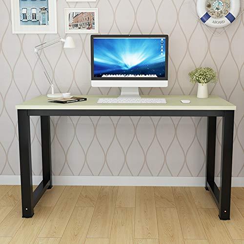 LIUXING-of Einfacher Laptop-Schreibtisch Stahl Holz Computer-Schreibtisch Praktische Desktop Home Studie Schreibtisch Notebook Schreibtisch Moderner minimalistischer Bürotisch
