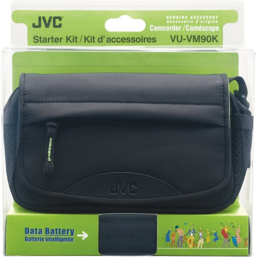 JVC VU-VM90KUE Camcorder Starter Kit Includes BN-VF808 Data Battery & CB-VM70 Carrying Bag