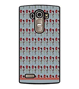 PrintDhaba Girl Pattern D-1555 Back Case Cover for LG G4 (Multi-Coloured)