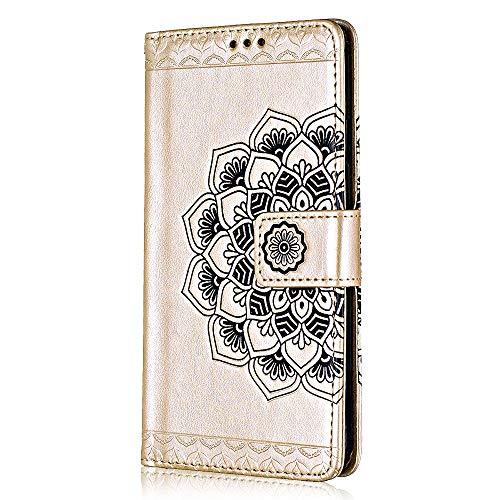 22479cf271f Cover iPhone 7 Plus / 8 Plus, Bear Village® Goffratura Portafoglio Flip  Custodia in Pelle ...