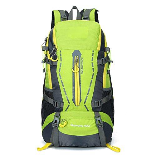 Rucksack Rucksack Wandern Outdoor Bergsteigen Reisen Casual Daypack Hochleistungs-Taschen,Black Green