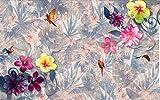 Fototapete Vlies Tapete 3D wallpaper Wanddeko Design Moderne Anpassbare Wandbilder regenwald blumen blumen und alten mauern