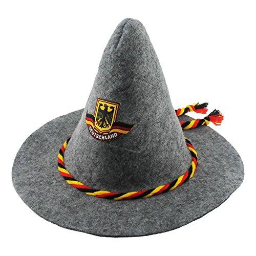 Fußball T-shirt Hut (Hut Filzhut Seppelhut Deutschland hochwertig Germany)