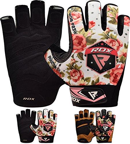 RDX Guantes Gimnasio Mujer Fitness Culturismo Musculacion Gym Levantamiento de Pesas Entrenamiento Halterofilia Deportivos Workout Powerlifting Chica Antideslizante Weightlifting Gloves