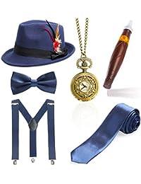 Amazon.it  Blu - Cappelli Fedora   Cappelli e cappellini  Abbigliamento dcdfd686b774