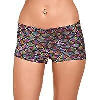 Juleya Pantalones Impresion Digitaces Escala Pescados Sirena Mujeres Mini