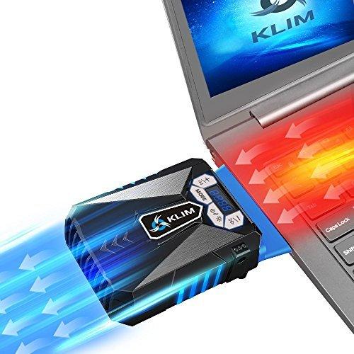 KLIM Laptop Kühler gaming - Hochleistungslüfter - Cooling pad - Notebook Kühler Cooler Stände Kühlpad Kühlmatte laptop cooler