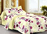 #10: Story@Home 208 TC 100% Cotton Cream 1 Single Bedsheet with 1 Pillow Cover