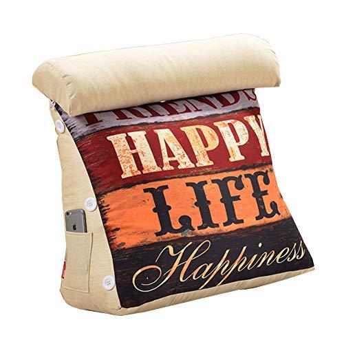 Soutien du dos Wedge oreiller triangle réglable coussin coussin canapé lit bureau chaise reste coussin,C,58x50cm