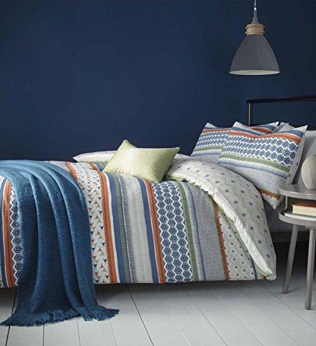 perfecthome Textilien Jr zurückverfolgen Stripe Multi, die-Moderne geometrische Baumwolle Mischung Bettbezug Set, Polycotton, multi, Kingsize