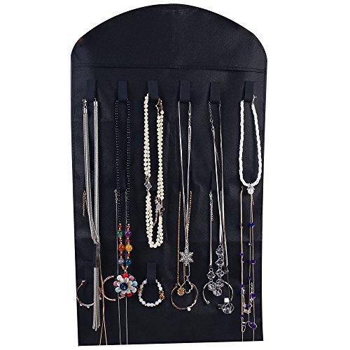 Ezigoo Großer, Doppelseitiger Schmuckhalter Aufbewahrung Schwarz – Ringhalter, Ohrring display - 4