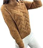 Mohair Sweater Grobstrick Pullover Zopfpullover Damen Sweatjacke Sweaters Winterpullover Schicke Mantel Frauen Pullover Herbst Winter Orange